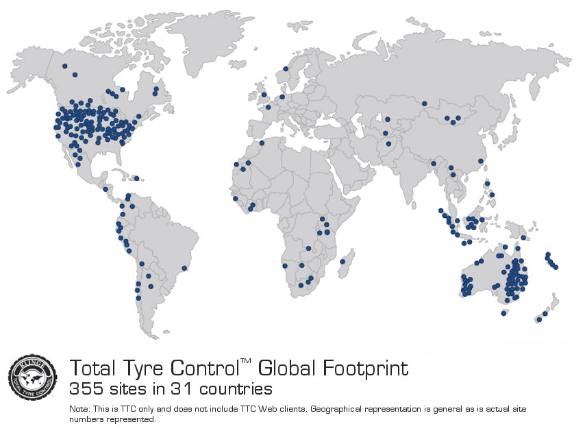 Global distribution of TTC installations
